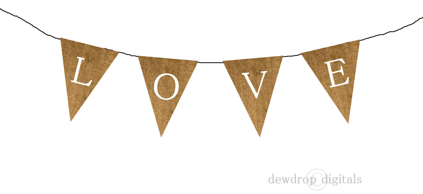 Banner Diy Wedding Shower Photo Prop Digital Clipart Personal Use