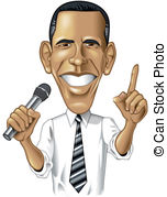Barack Obama Caricature - Digital cartoo-Barack Obama Caricature - Digital cartoon llustration-5