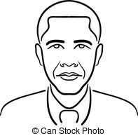 . ClipartLook.com Barack Obama line drawing - Simple, clean line drawing of.