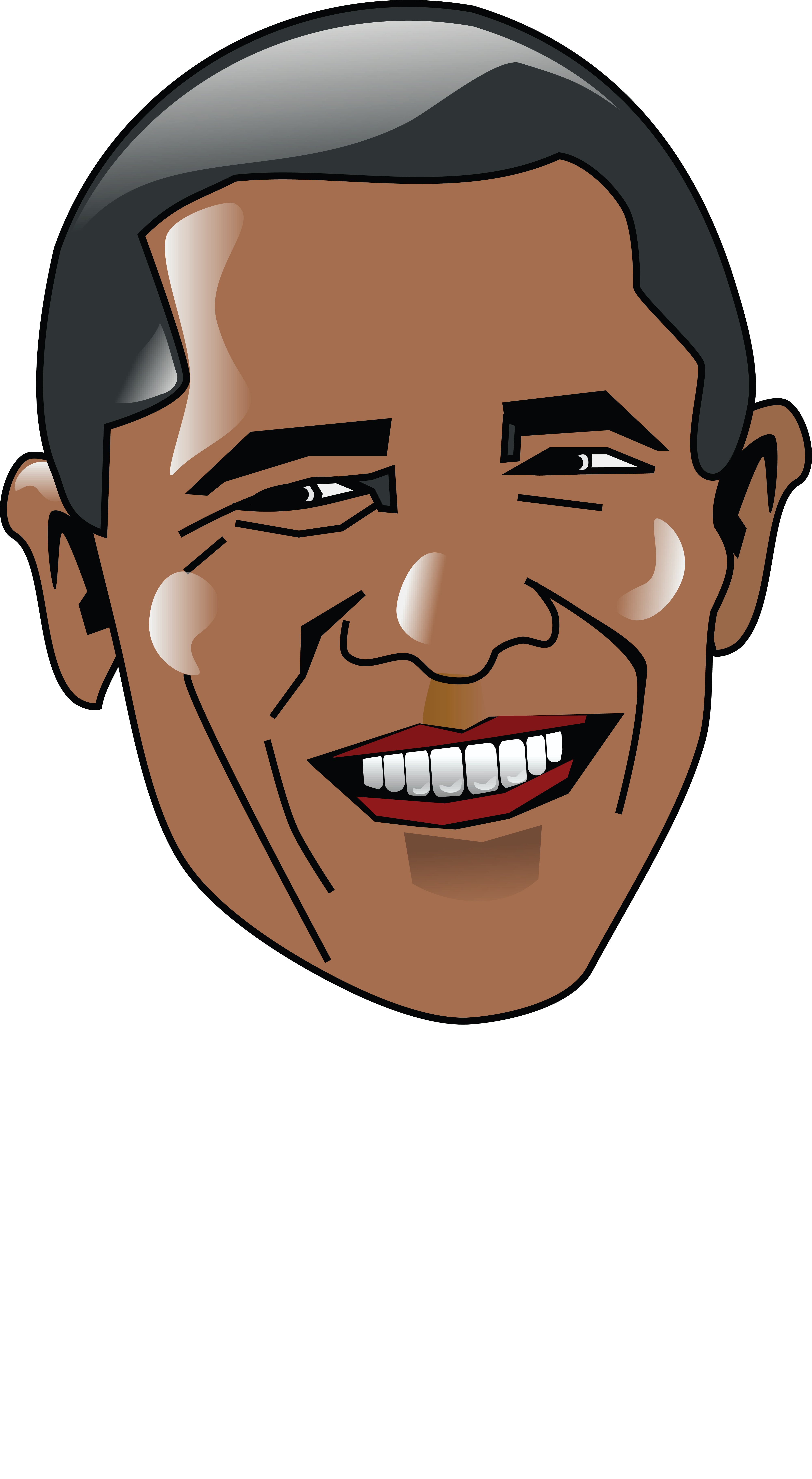 Free Clipart Of Barack Obama #0001682 .