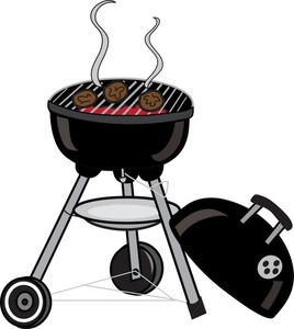 Barbecue Clipart Image Burgers Cooking On A Bbq Grill 20140621035919