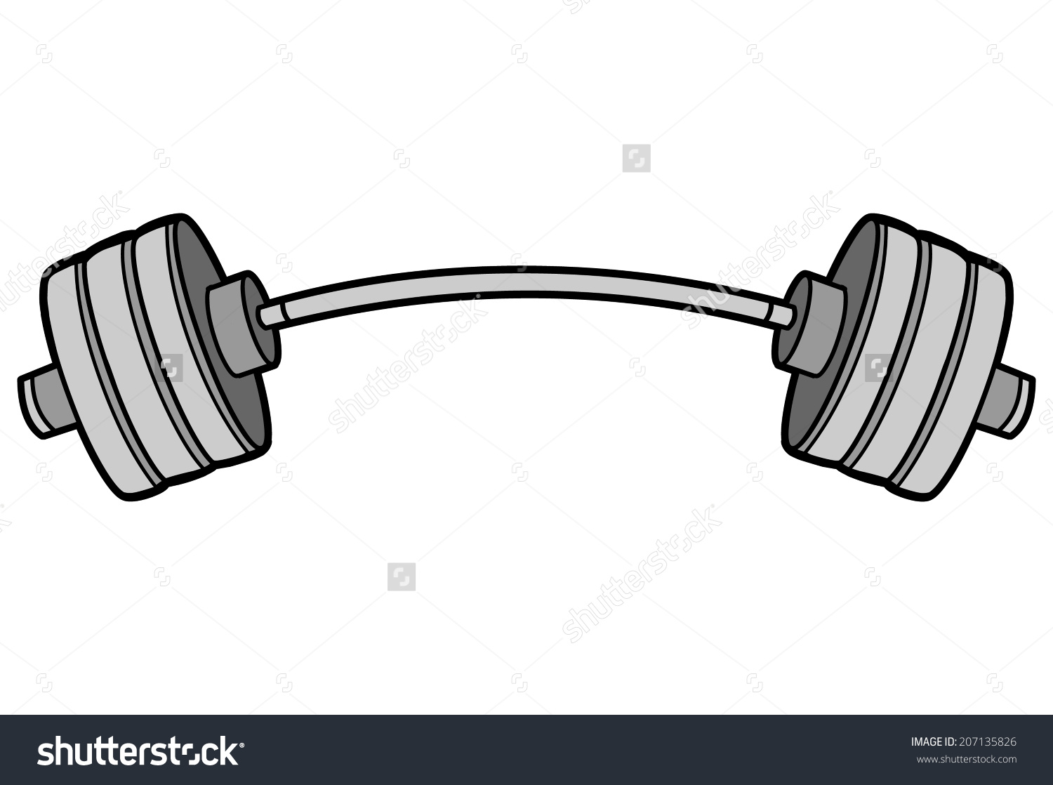 Barbell Clipart. Save To A Lightbox .-Barbell Clipart. Save to a lightbox .-3