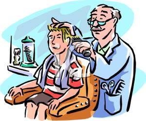 Barber Clipart A Boy At A ..