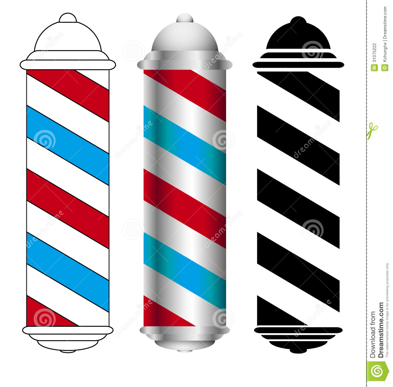 Barber Shop Clip Art Barber Shop Pole Stock Photography Image