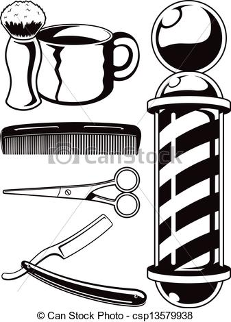 ... Barber Shop Graphic Elements - Here are a few vector.