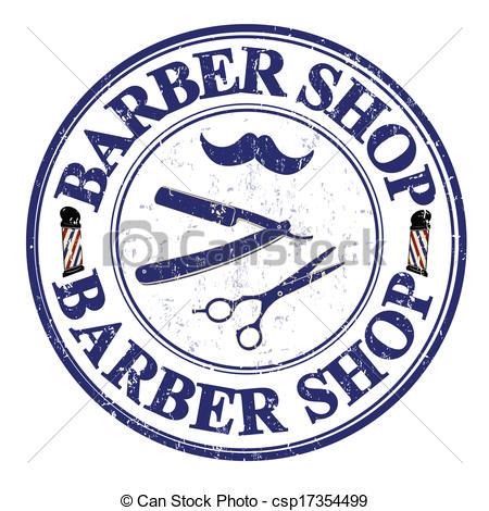 ... Barber shop stamp - Barber shop grunge rubber stamp on.