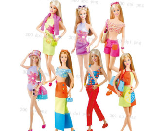 Barbie digital clipart png files Clip Art Images Instant Download