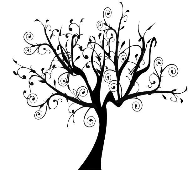 Bare Tree Branch Clip Art Branch Vine Swirl Tree Clip Art