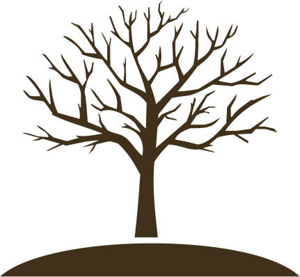 Bare Tree Clip Art Free. Winter tree vector art .