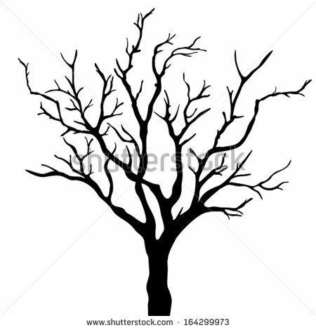 Bare Tree Silhouette Clipart-Bare Tree Silhouette Clipart-1