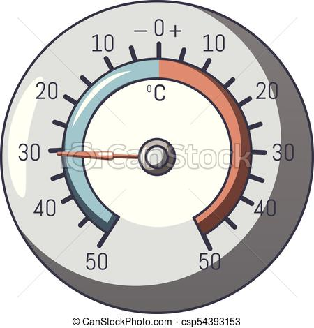 Barometer icon, cartoon style - csp54393153