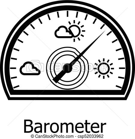 Barometer icon, simple style - csp52033962