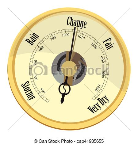Golden Barometer Vector