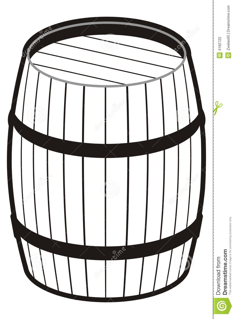 ... Barrel Clip Art ...