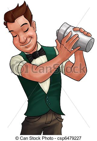Barman Stock Illustration - Bartender Clipart