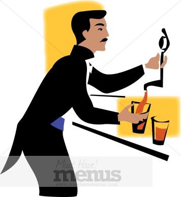 Beer Bartender Clipart - Bartender Clipart