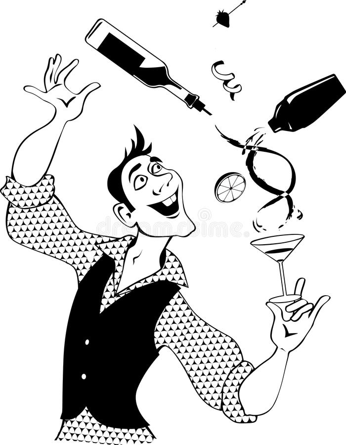 Download Bartender clip-art stock vector. Illustration of adult - 87238419