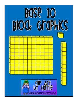Base 10 Block Graphics FREEBI - Base Ten Blocks Clip Art