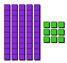 Base Ten Rod Clipart. 10 bloc - Base Ten Blocks Clip Art
