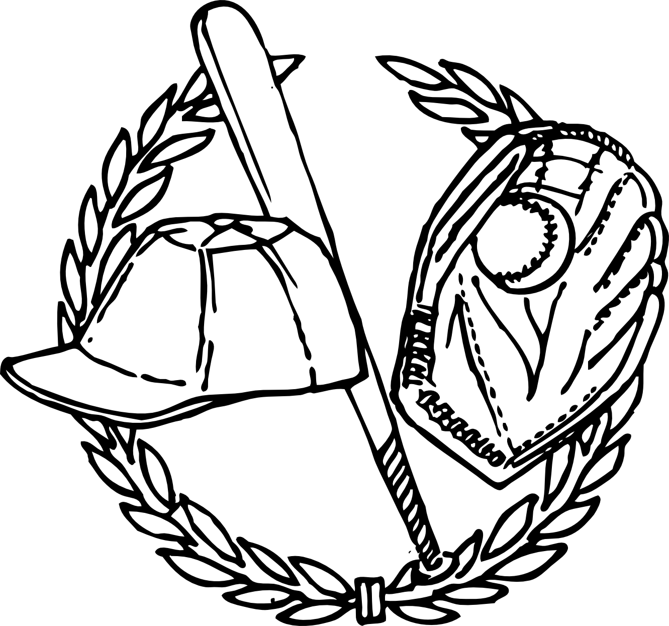 Baseball Clipart Black And White-baseball clipart black and white-13