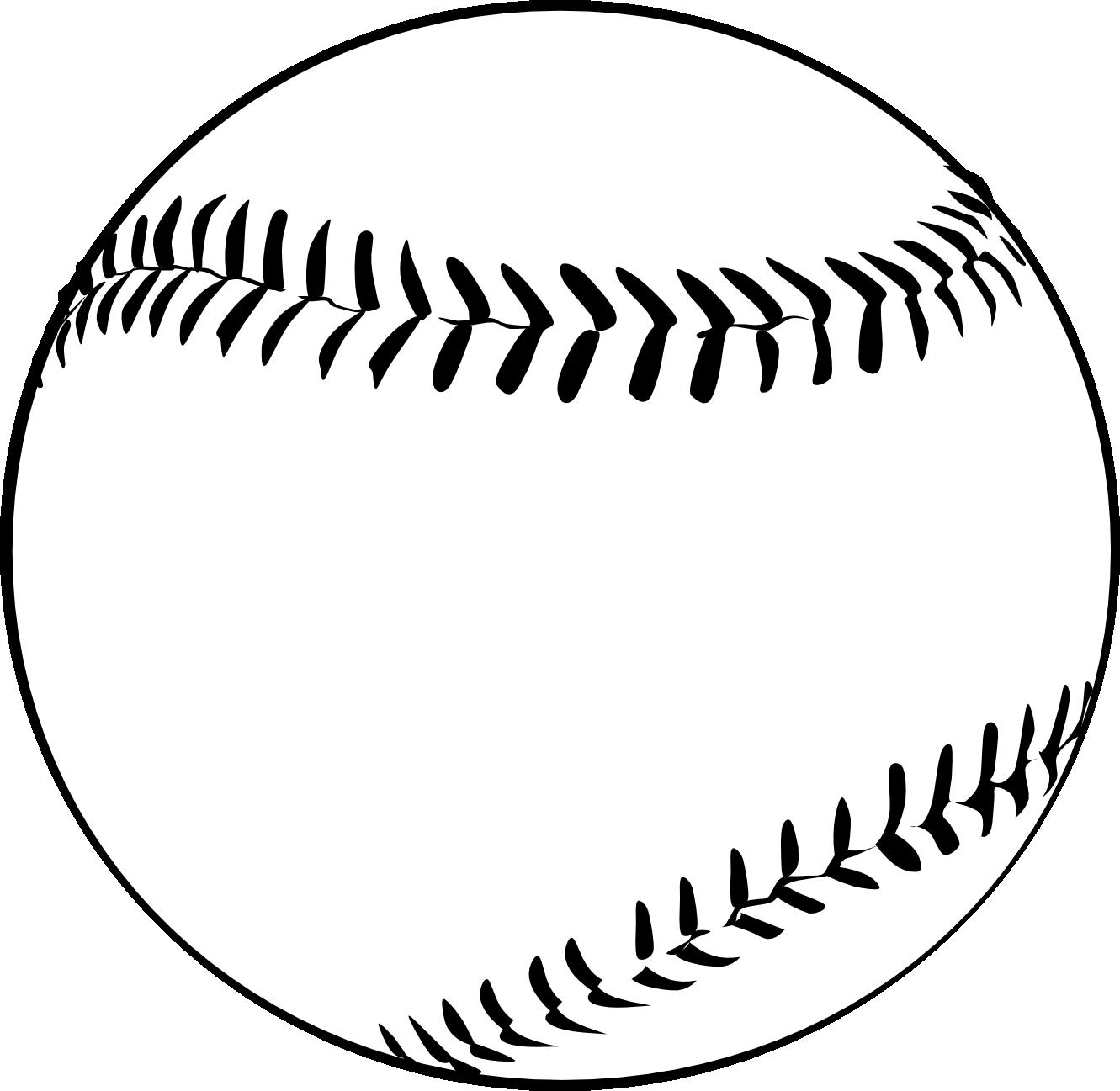 baseball clipart black and white