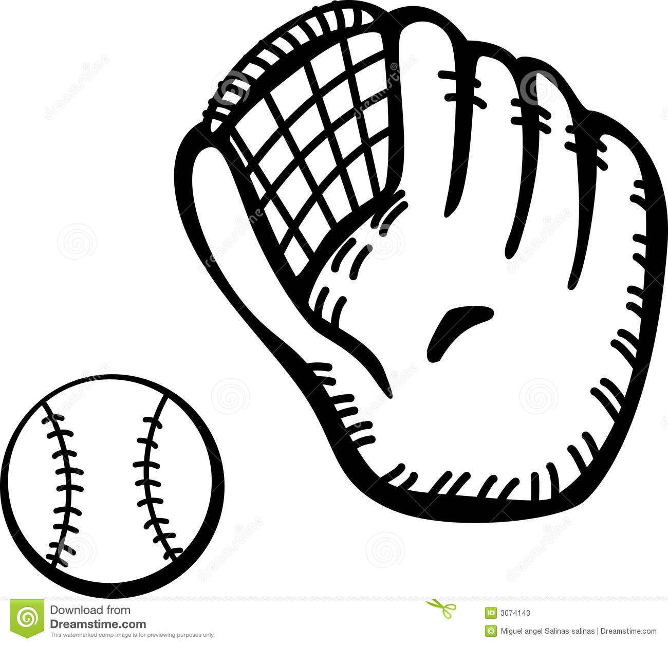 baseball clipart black and white