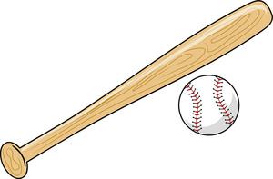 Baseball And Bat Clipart Image .