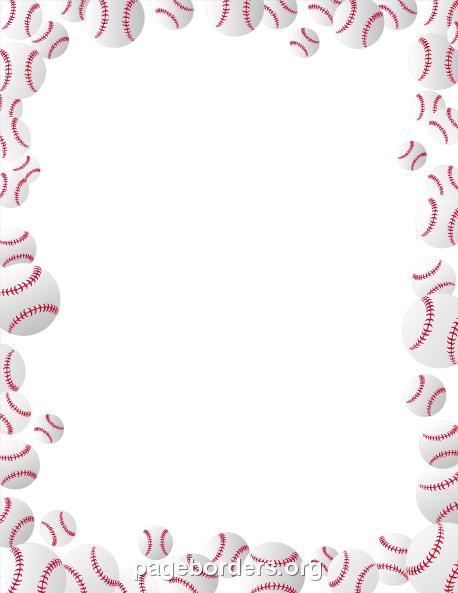Baseball Bat Border U0026middot; Basebal-Baseball Bat Border u0026middot; Baseballs Border-5