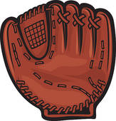 baseball bat glove; silhouette baseball glove; baseball glove clipart
