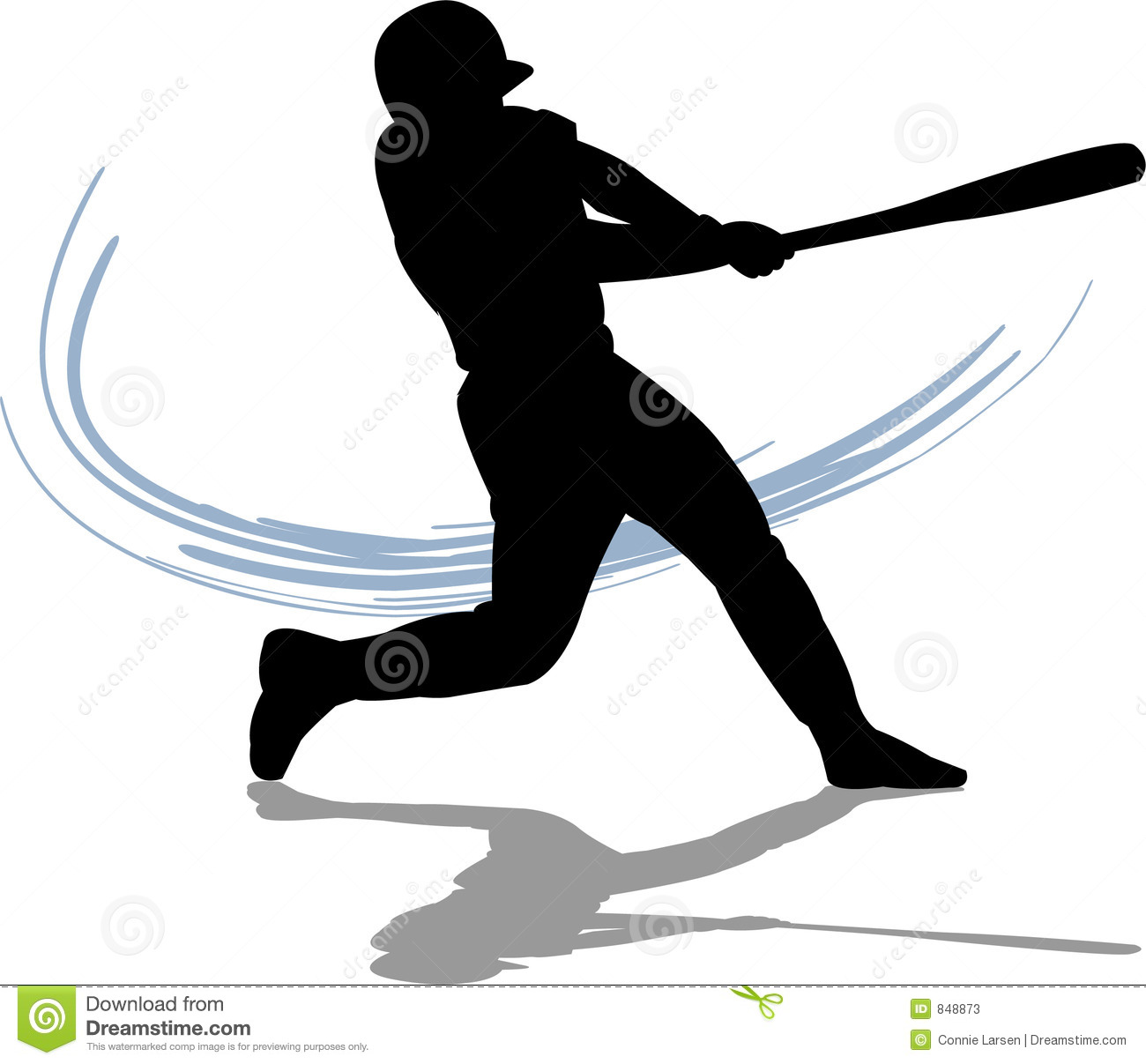 Baseball Batter Hitting Ball .