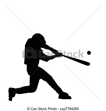 ... Baseball Batter Hitting Ball with Bat for Home Run