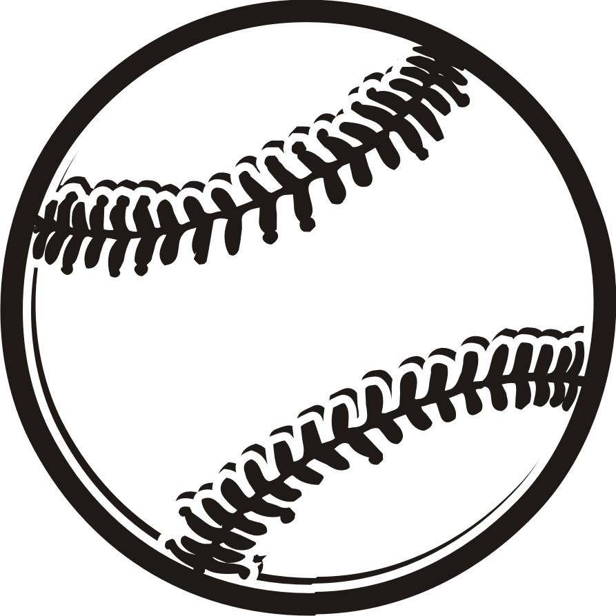 Baseball black and white .