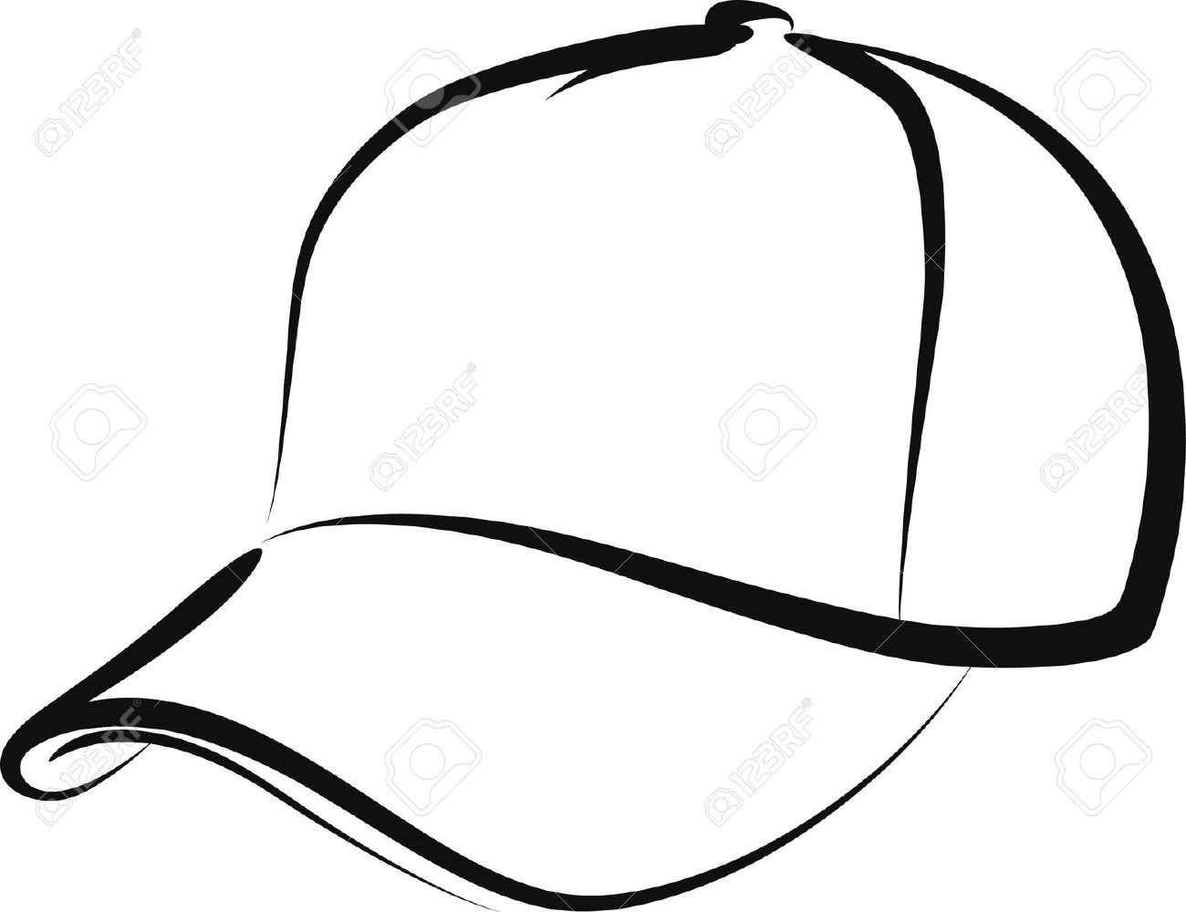 Baseball Hat Clipart Black An - Baseball Cap Clipart