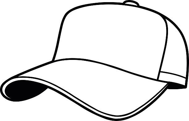 Hat Clipart Black And White Baseball Cap Clipart Custom Skull Caps intended  for Hat Clipart Black