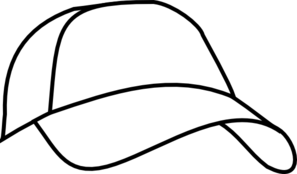 White Baseball Cap Clip Art - Baseball Cap Clipart
