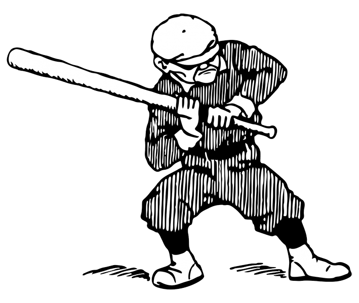 Funny Old Baseball Player Clipart