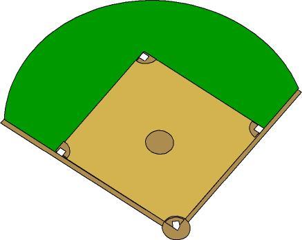 Baseball Field Clipart U0026middot; Base-Baseball Field Clipart u0026middot; Baseball Field Outline-12