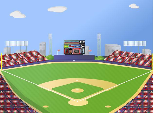 baseball field vector .