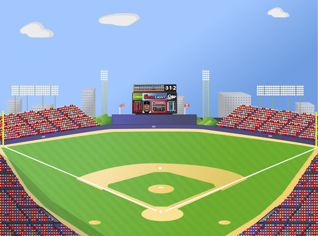 baseball field vector .-baseball field vector .-2