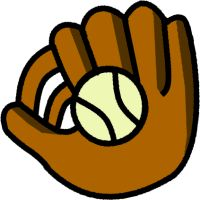 baseball glove clipart