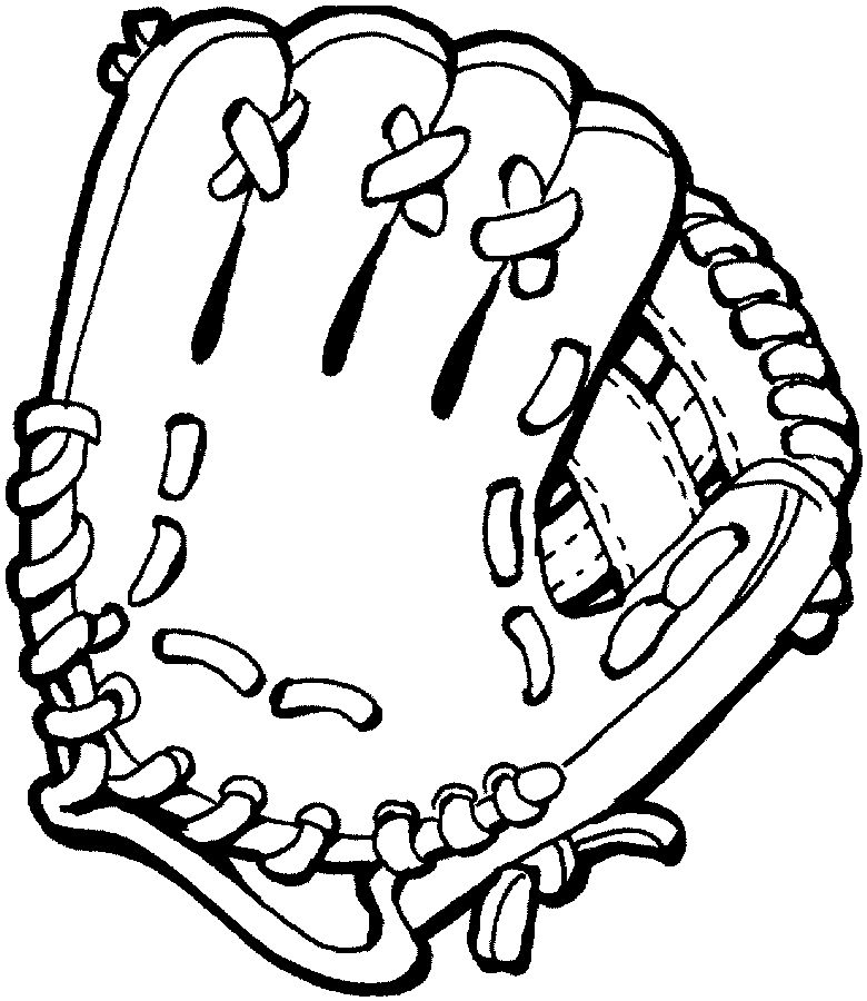 Baseball Glove Get This Coloring Page