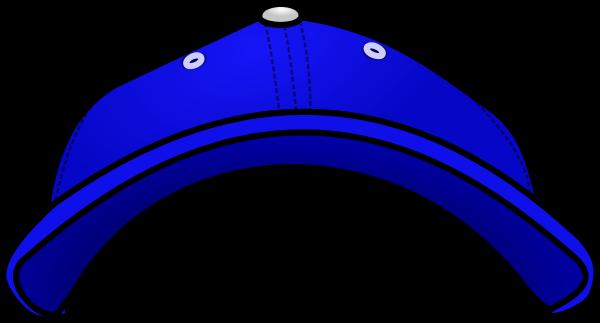 Baseball hat backwards .