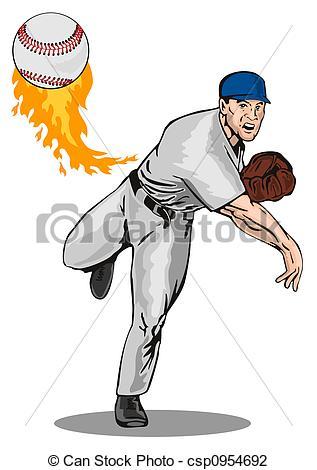 Baseball Pitcher Clip Art