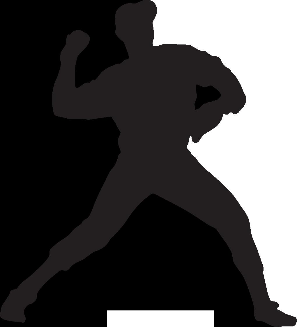 Baseball Pitcher - Retro . - Baseball Pitcher Clipart