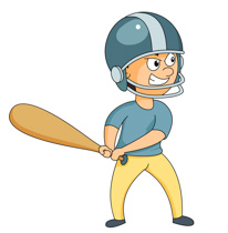 baseball player at bat with angry expression clipart. Size: 104 Kb