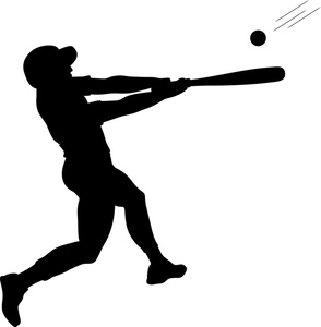 Baseball player baseball bat clipart