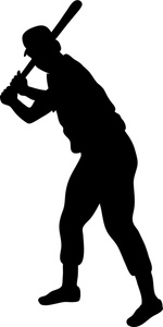 Baseball Player Clipart Image: .