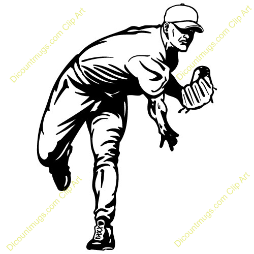 Baseball Player Running Clipa - Baseball Pitcher Clipart