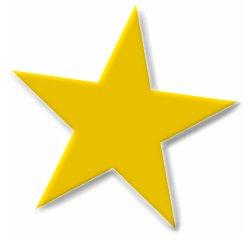 basic-5-point-gold-star-bevel - Star Clip Art