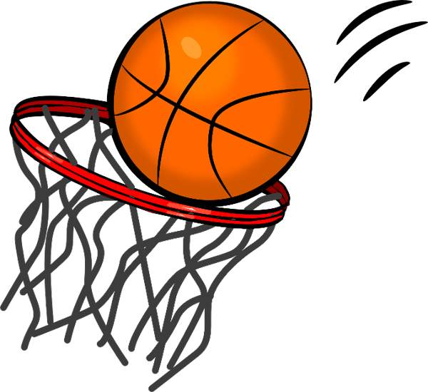 Half Basketball Clipart Black